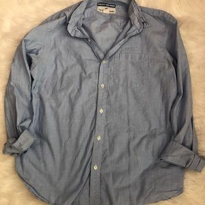 Old Navy Blue Button-Up Long Sleeve Shirt